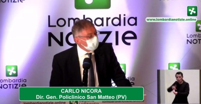 Carlo Nicora dir, gen. Policlinico san Matteo