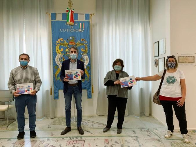 La consegna della copia con delega ai consiglieri comunali, Cotignola, 13 maggio 2020