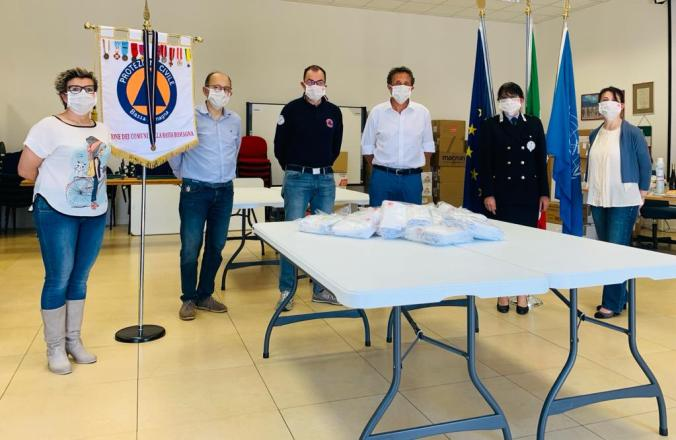 La donazione delle mascherine di Aido, Bagnacavallo, 9 maggio 2020 (2)