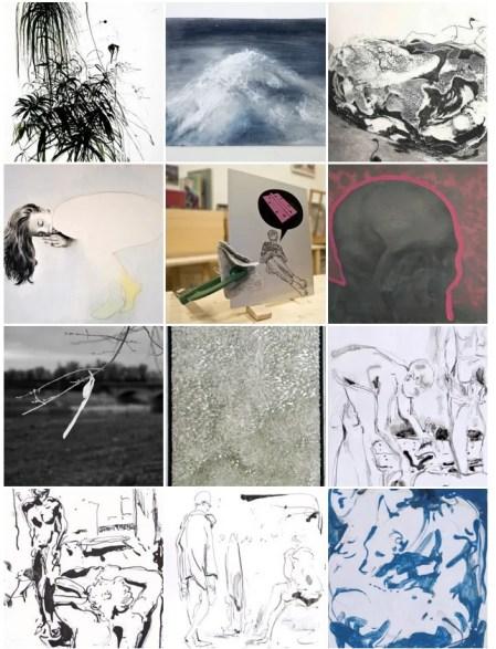 Alcune delle opere in galleria