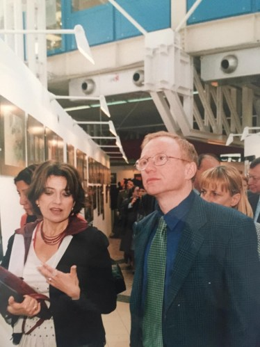Elena Pasoli con David Grossman
