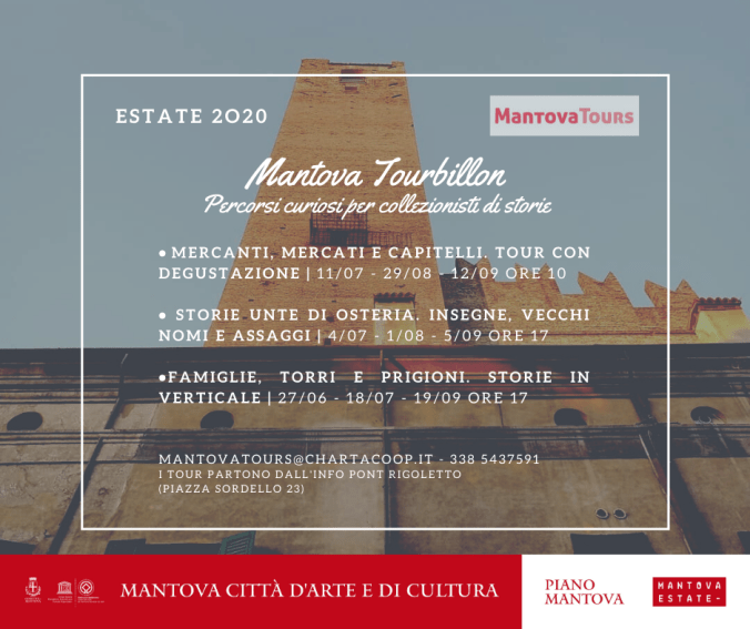 Percorsi estate 2020 Mantova Tours