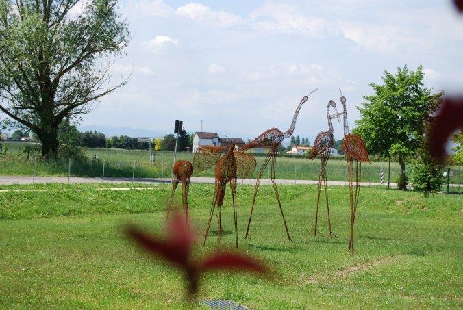 Installazioni al Parco Conti di Barbiano