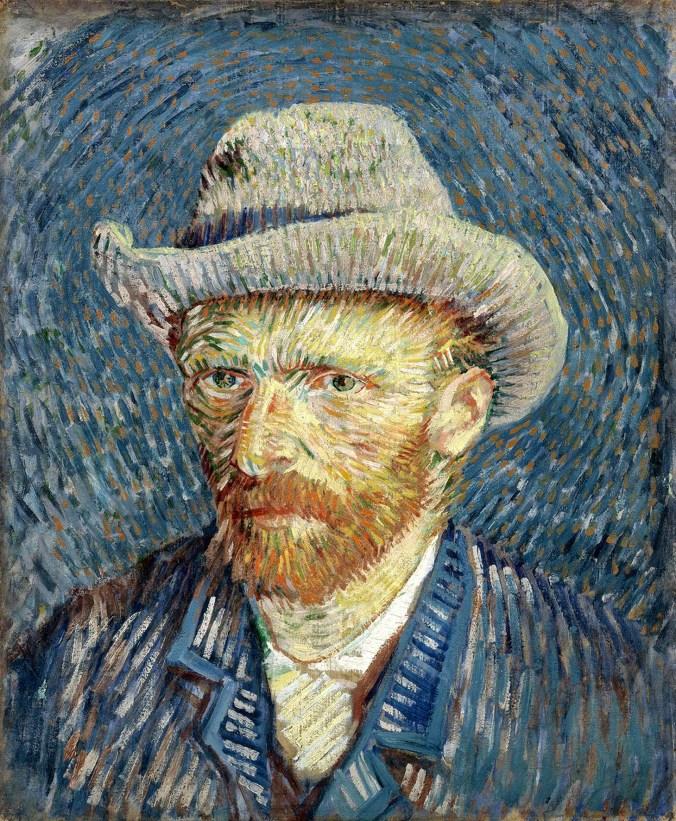 Vincent van Gogh, Autoritratto con cappello di feltro grigio, 1887, olio su tela, cm 44,5 x 37.2. Van Gogh Museum (Vincent van Gogh Foundation), Amsterdam.jpg