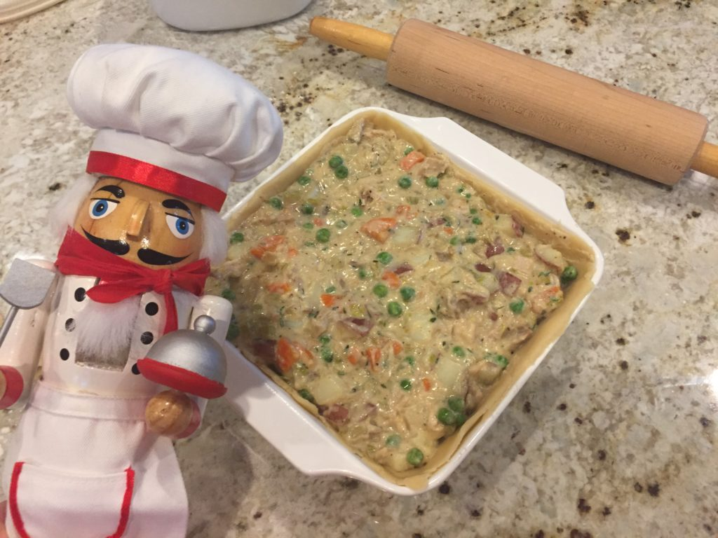 Pepe filling turkey pot pie