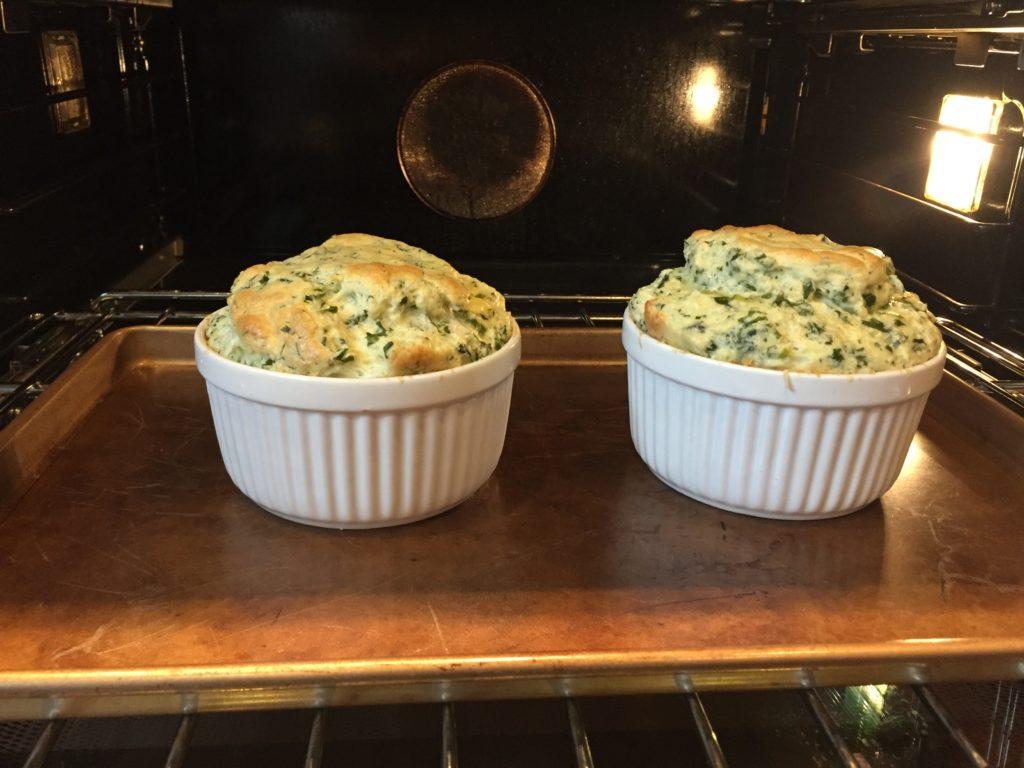 Kale shuffles after baking