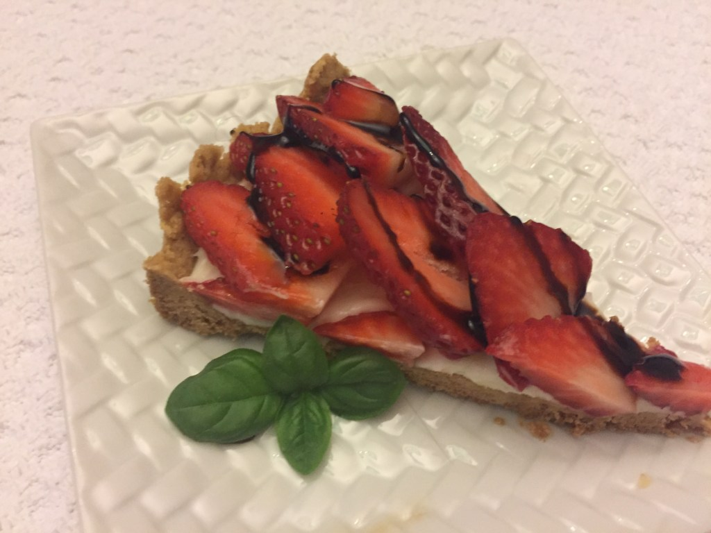strawberry tart & balsamic glaz