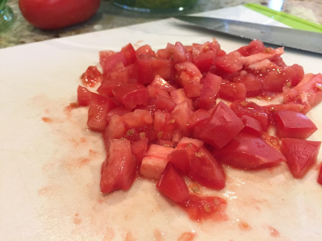 Chopped roma tomatoes