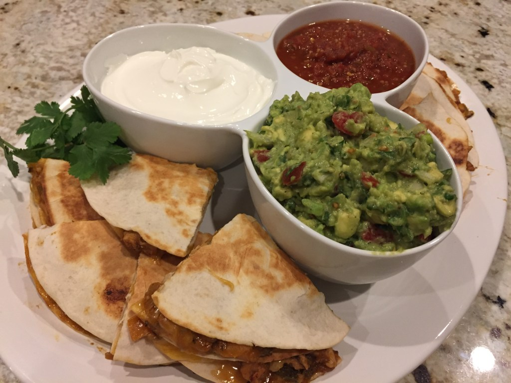What goes with Chicken quesadillas