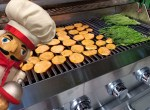 Grilling sweet potatoes & asparagus