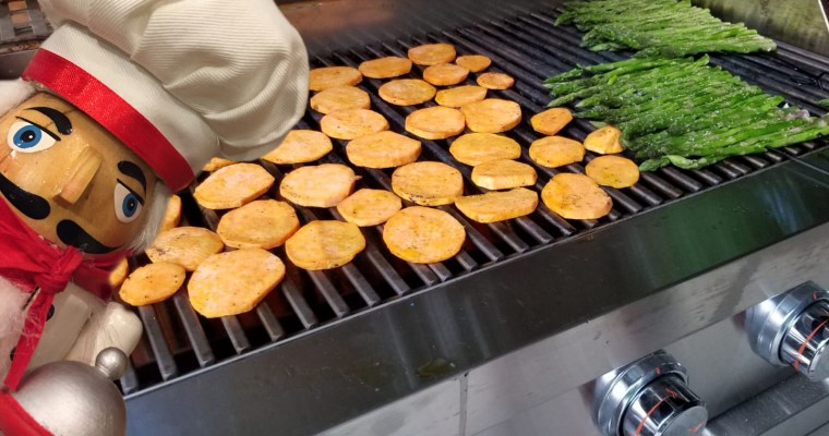 Grilled Sweet Potatoes & Asparagus