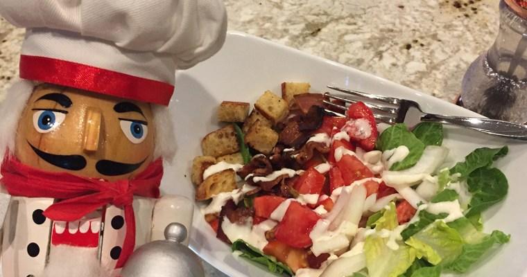BLT Salad with Homemade Croûtons