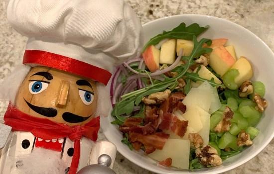 Bacon, Apple, Walnut & Arugula Salad