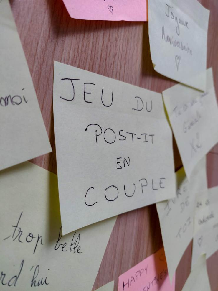 Mind & beauty - Jeu du post-it en couple