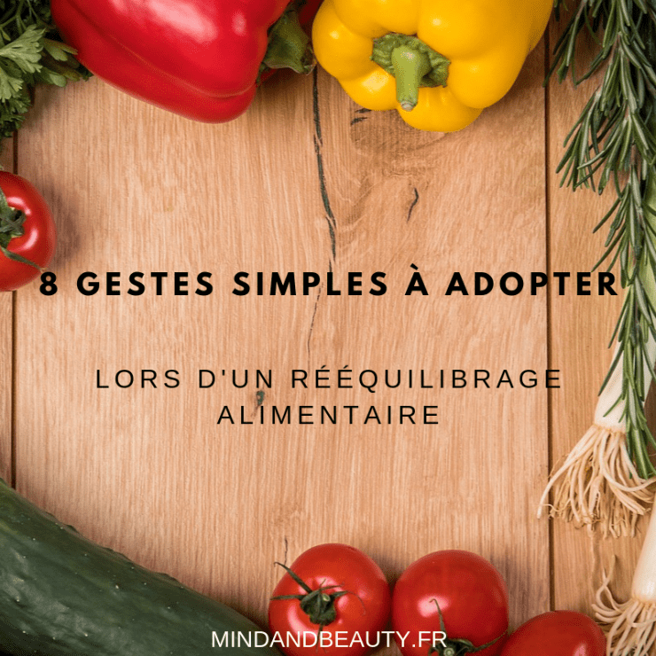 Mindandbeauty - 8 Gestes simples à adopter lors d'un rééquilibrage alimentaire