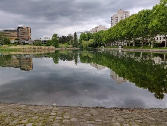 Reflets des arbres sur l'eau