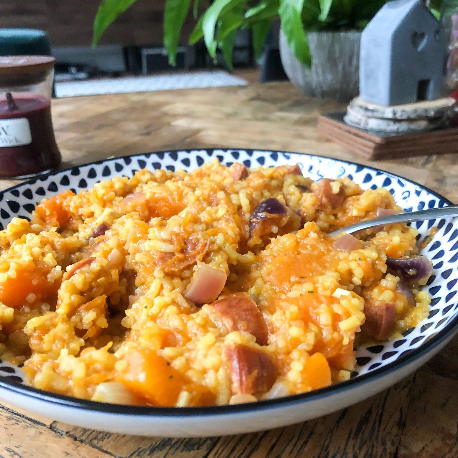 Spicy chorizo pumpkin stew