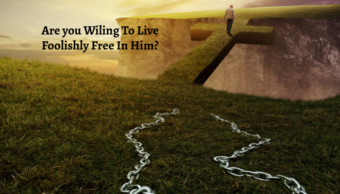 Are you Wiling To Live Foolishly Free In Him?