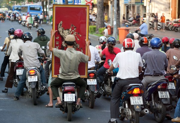There are eight million people in Ho Chi Minh City and five million motorcycles. MindaNews photo by Bobby Timonera