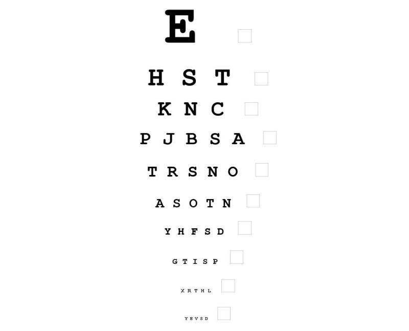 Eye Exam Letters Poemsrom