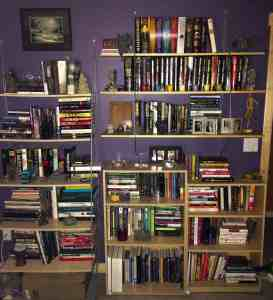 A small portion of the library that takes up space in almost every room of my house.