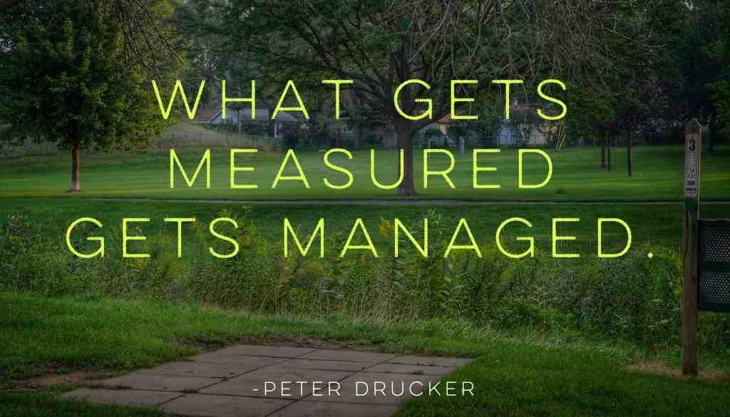 Measuring disc golf improvement - What gets measured gets managed