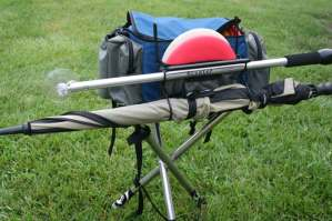Scabbard holder for the scepter disc golf retriever
