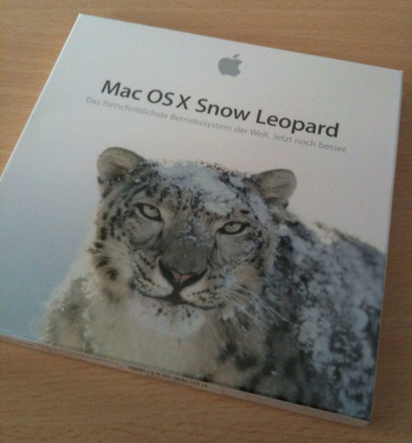 Mac OS X Snow Leopard Verpackung