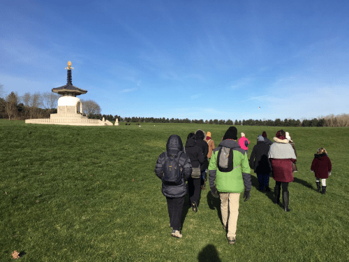 Mindful Walking raises funds for Peace Pagoda restoration