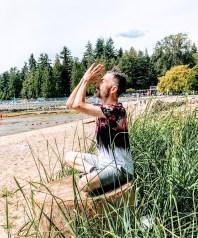 Tony O'Shea-Poon meditation on the beach