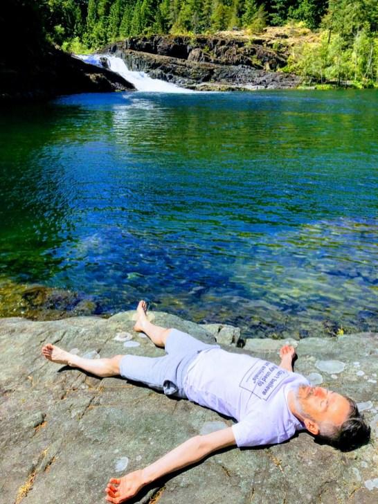 Tony O'Shea-Poon meditation by a lake