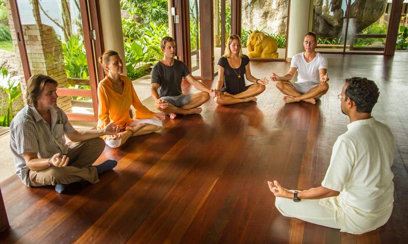 People – meditation retreat