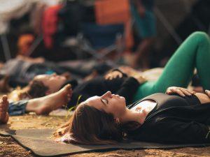 mindfulness gift retreat lying down