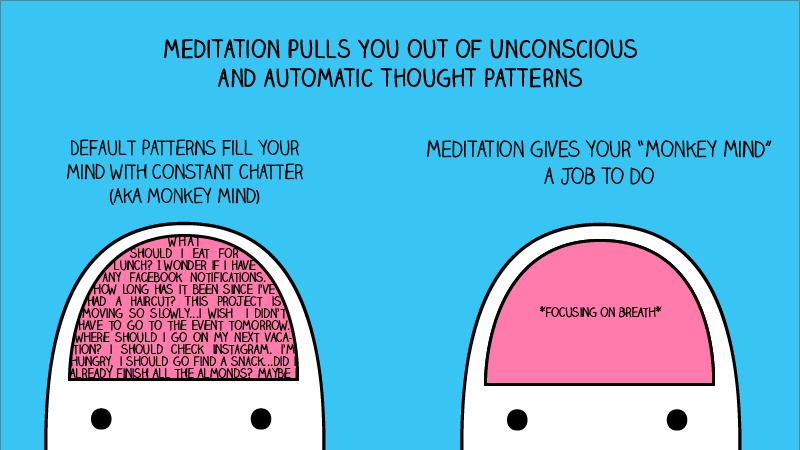 Monkey mind vs. meditation