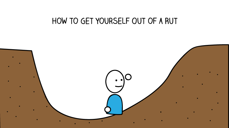 What does it mean to be stuck in a rut