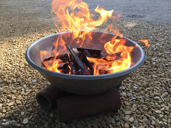 fire in bowl