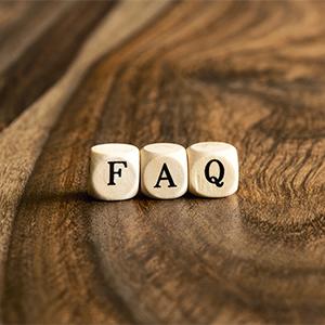 Word Faq On Wooden Cubes