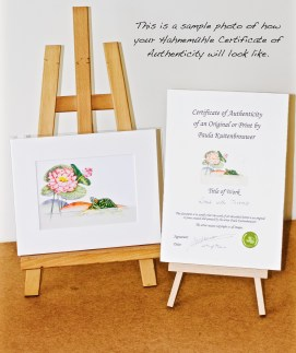 Certificate of Authenticity Lotus with Tortoise