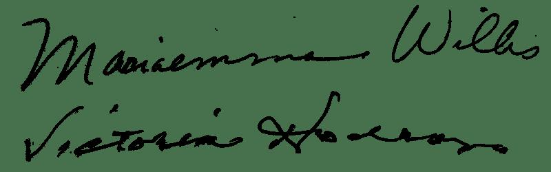 創始者の直筆サイン