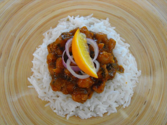 Meyer Lemon Chickpeas and Rice