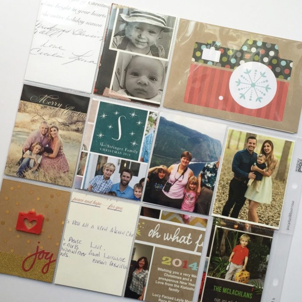 Holiday Album Part 2 | What to do with all those Holiday Cards? (1/6)