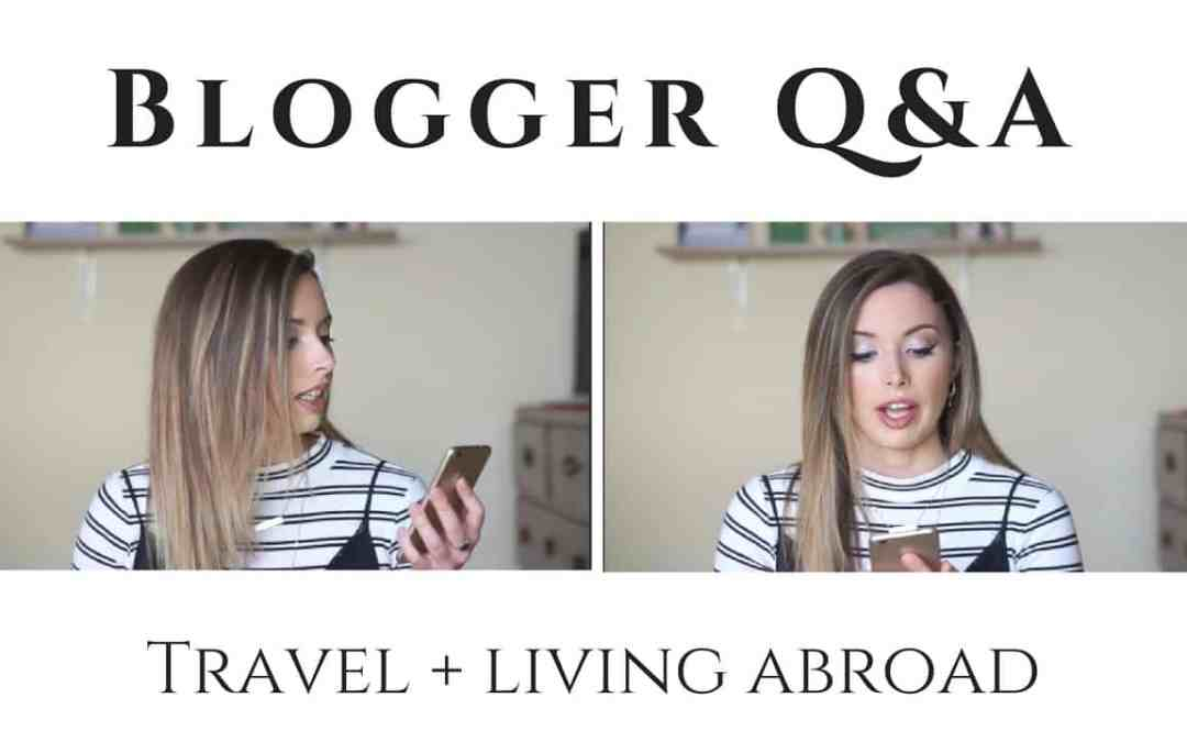 Youtube Q&A: Travel, Living Abroad, and Everything in Between