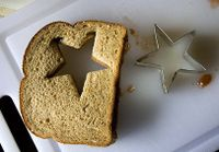 cookie cutter sandwich by Fauxtographical via flickr