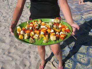 Camping food - appetizer kabobs via www.mindfulmomma.com