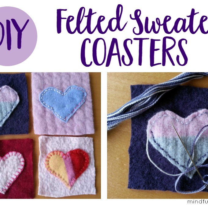 Felted Sweater Coasters – An Easy Handmade Gift
