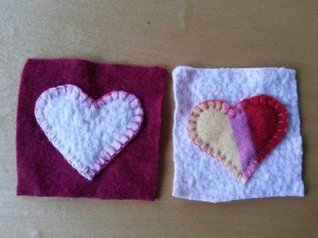 DIY Felted Sweater Coasters via mindfulmomma.com