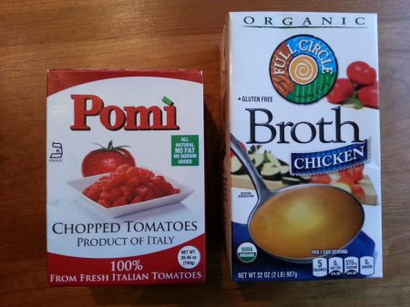 Pomi tomatoes and organic broth www.mindfulmomma.com