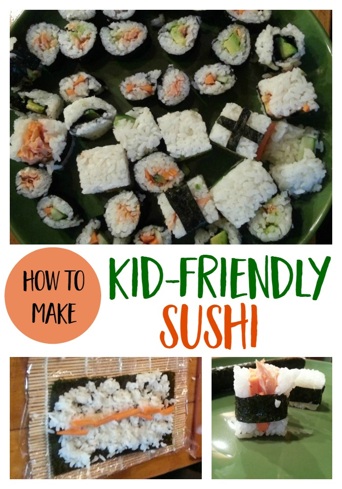 Learn How to Make Kid Friendly Sushi - a fun and healthy dinner recipe to make with the kids | healthy food ideas | sushi without fish