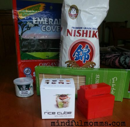 sushi supplies www.mindfulmomma.com