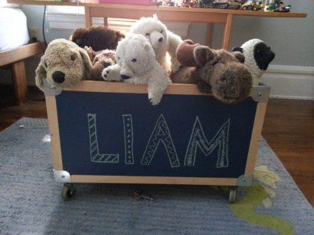 lullaby chalkboard paint toy box www.mindfulmomma.com